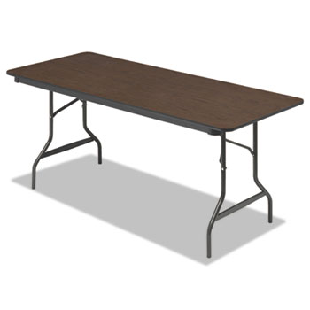 Iceberg Economy Wood Laminate Folding Table, Rectangular, 72w x 30d x 29h, Walnut