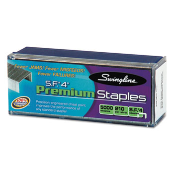 S.F. 4 Premium Chisel Point 210 Count Full-Strip Staples, 5000/Box