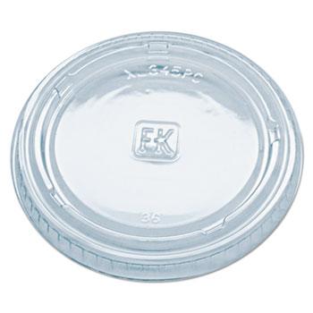 Fabri-Kal® Portion Cup Lids, Fits 3.25-5.5 oz. Cups, Clear, 2500/CT