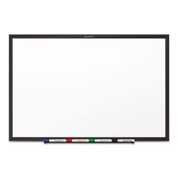 Quartet® Classic Melamine Dry Erase Board, 36 x 24, White Surface, Black Frame