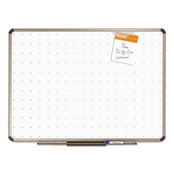 Quartet® Prestige Total Erase Whiteboard, 24 x 18, White Surface, Euro Titanium Frame