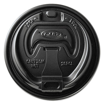 Optima Reclosable Lids for Paper Hot Cups for 10-24 oz Cups, Black, 1000/Carton