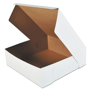 SCT® Bakery Boxes, White, Paperboard, 16 x 16 x 5, 50/Carton