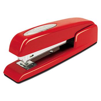 Swingline® 747 Business Full Strip Desk Stapler, 20-Sheet Capacity, Rio Red