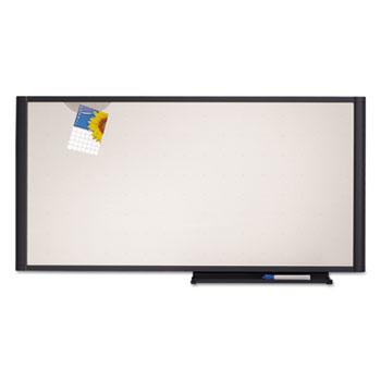 Prestige Cubicle Total Erase Whiteboard, 36 x 18, White Surface, Graphite Frame