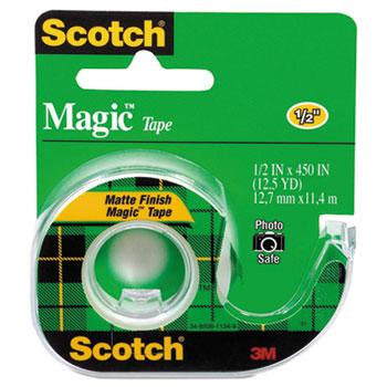 "Magic Tape in Handheld Dispenser, 1/2"" x 450"", 1"" Core, Clear"