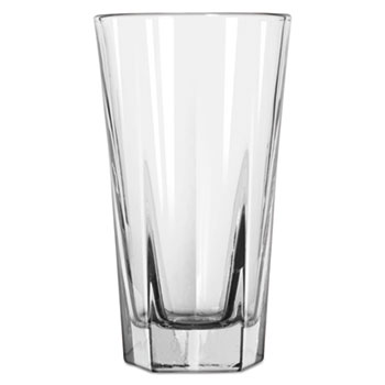 Libbey Inverness Glass Tumblers, Hi-Ball, 10 oz, Clear, 36/Carton