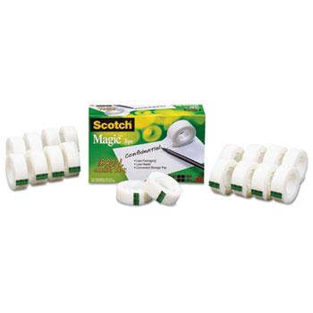 """Magic Tape 18 Roll Cabinet Pack, Bulk Pack, 3/4""""X1000"""", 1""""Core, Clear, 18/Pack"""