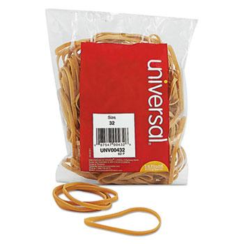 """Rubber Bands, Size 32, 0.04"""" Gauge, Beige, 4 oz Box, 205/Pack"""