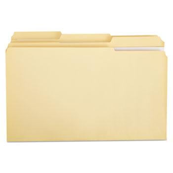 Double-Ply Top Tab Manila File Folders, 1/3-Cut Tabs, Legal Size, 100/Box