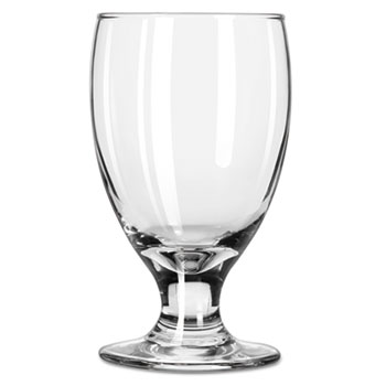 "Libbey Embassy Footed Drink Glasses, Banquet Goblet, 10.5oz, 5 1/4"" Tall, 24/CT"