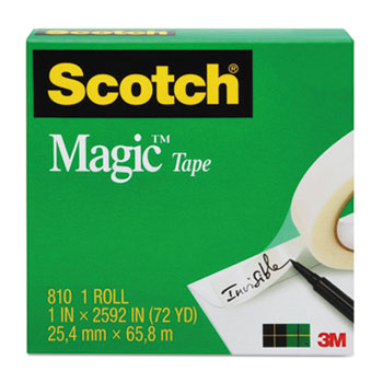 "Magic Tape Refill, 1"" x 1296"", 1"" Core, Clear"