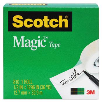 "Magic Tape Refill, 3/4"" x 1296"", 1"" Core, Clear"