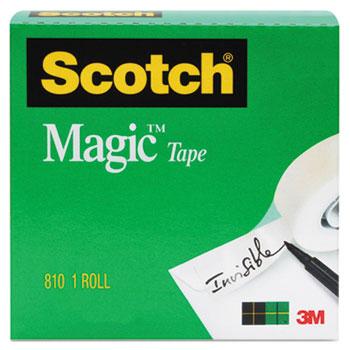 "Magic Tape Refill, 3/4"" x 1000"", 1"" Core, Clear"