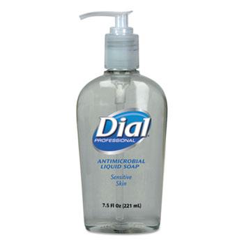 Dial® Professional Antimicrobial Soap for Sensitive Skin, 7.5oz Décor Pump Bottle, 12/Carton