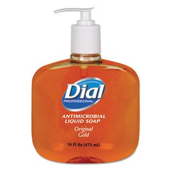 Dial® Professional Gold Antimicrobial Soap, Floral Fragrance, 16oz. Pump Bottle, 12/Carton