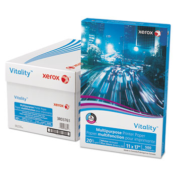 Xerox® Vitality Multipurpose Printer Paper, 11 x 17, White, 500 Sheets/RM