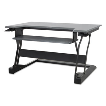 WorkFit-T Desktop Sit-Stand Workstation, 35 x 22 x 20, Black