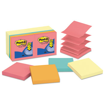 Post-it® Original Pop-up Notes Value Pack, 3 x 3, Canary Yellow/Cape Town, 100-Sheet, 14/PK