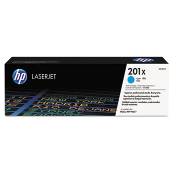 201X (CF401X) Toner Cartridge, Cyan High Yield