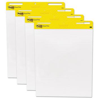 Self Stick Easel Pads, 25 x 30, White, 4 30 Sheet Pads/Carton