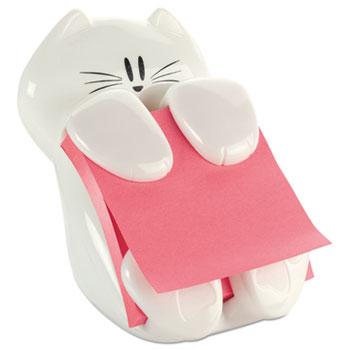 Post-it® Pop-Up Note Dispenser Cat Shape, 3 x 3, White