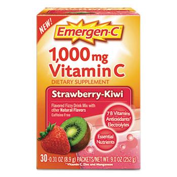 Immune Defense Drink Mix, Strawberry Kiwi, 0.31 oz Packet, 30/Box
