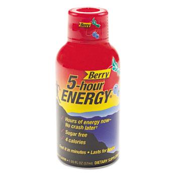 Energy Drink, Berry, 1.93oz Bottle, 12/Pack