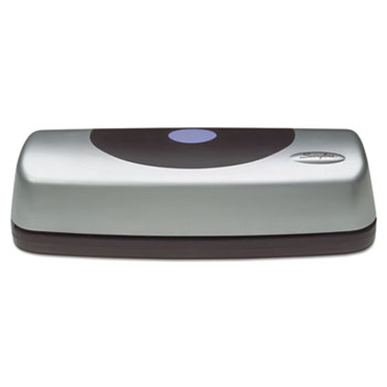 15-Sheet Electric Portable Desktop Punch, Silver/Black