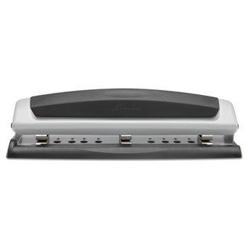 """10-Sheet Precision Pro Desktop Two- and Three-Hole Punch, 9/32"""" Holes"""