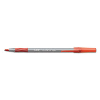 Round Stic Grip Xtra Comfort Ballpoint Pen, Red Ink, .8mm, Fine, Dozen