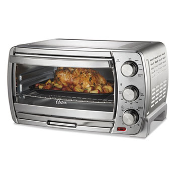 """Oster® Countertop Convection Oven, 19 3/4"""" W x 15 1/3"""" D x 11 1/3"""" H, Stainless Steel"""