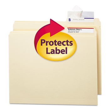 Smead® Seal & View File Folder Label Protector, Clear Laminate, 3-1/2x1-11/16, 100/Pack