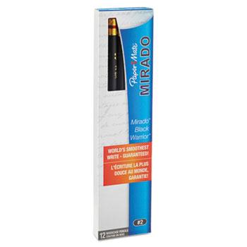 Paper Mate® Mirado Black Warrior Woodcase Pencil, HB #2, Black Matte, Dozen