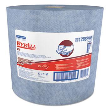 WypAll® X90 Cloths, Jumbo Roll, 11 1/10 x 13 2/5, Denim Blue, 450/Roll, 1 Roll/Carton