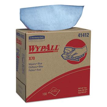 X70 Wipers, POP-UP Box, 9 1/10 x 16 4/5, Blue, 100/Box, 10 Boxes/Carton