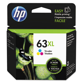 63XL Ink Cartridge, Tri-color (F6U63AN)