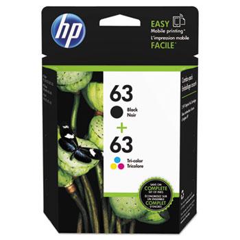 63 Ink Cartridges - Black, Tri-color, 2 Cartridges (L0R46AN)