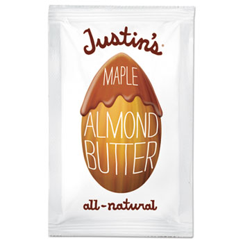 Justin's® Maple Almond Butter, 1.15 oz. Squeeze Packs, 10/Box