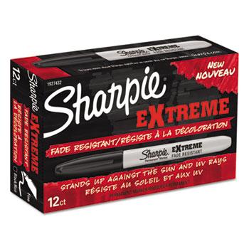 Sharpie® Extreme Marker, Fine Point, Black, Dozen