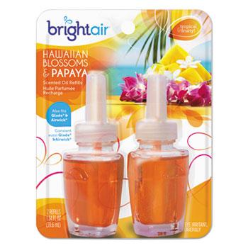 BRIGHT Air® Electric Scented Oil Refills, Hawaiian Blossoms & Papaya, 0.67 oz Refill, 2/Pack