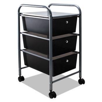 Portable Drawer Organizer, 13w x 15 3/8d x 25 7/8h, Smoke/Matte Gray