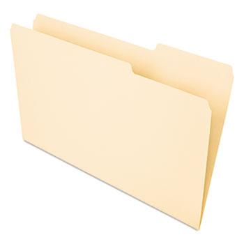 Universal® Interior File Folders, 1/3-Cut Tabs, Legal Size, Manila, 100/Box