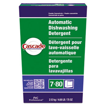 Cascade® Automatic Dishwasher Powder, 75 oz. Box, Fresh Scent, 7/CT