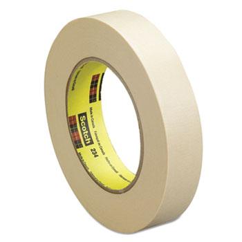 "Scotch™ General Purpose Masking Tape 234, 18mm x 55m, 3"" Core, Tan"