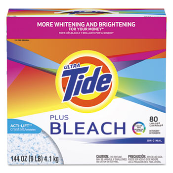 Laundry Detergent with Bleach, Original Scent, Powder, 144 oz Box, 2/Carton