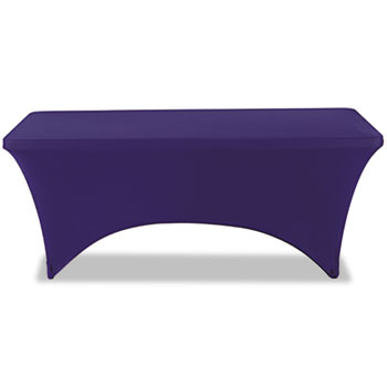 """Stretch-Fabric Table Cover, Polyester/Spandex, 30"""" x 72"""", Blue"""