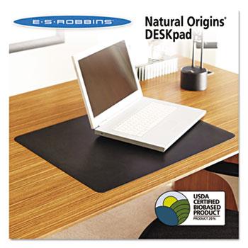 ES Robbins® Natural Origins Desk Pad, 24 x 19, Matte, Black