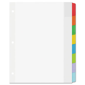 Movable Tab Dividers, 8-Tab Set, Multicolor