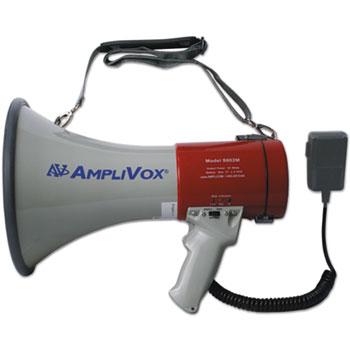 AmpliVox® MityMeg Piezo Dynamic Megaphone, 25W w/ Coiled Microphone